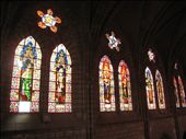 Beautiful stained glass window at the La Basilica in Quito: by pmok, Views[173]
