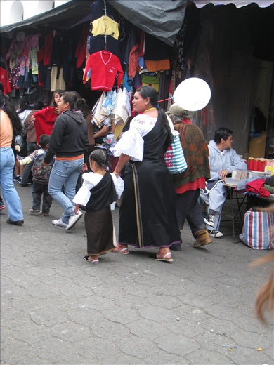 Traditional dress for the women of the indigenous tribe around Otavalo
