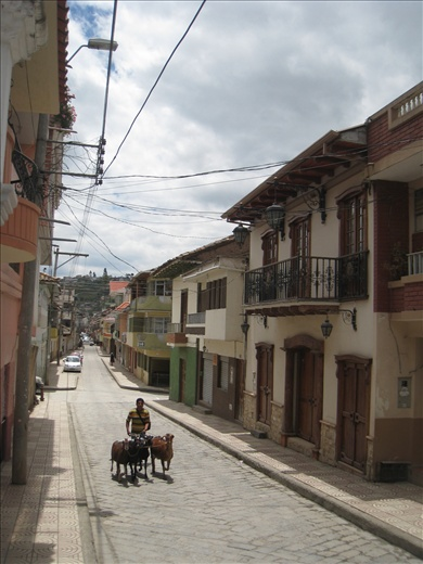 Gualeceo, a small town not too far from Cuenca, known for ikat.