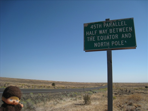 I love this random sign along the highway in Oregon. Just think that less than a week ago, I was at the equator!