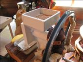 Hand grinder, I grind rye and corn into flour. Used them to make bread, waffles and pancakes, yum!: by pmok, Views[215]