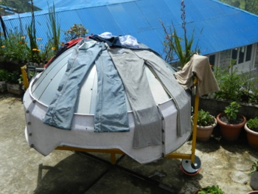 Actually it is a solar cooker; not a clothes dryer!
