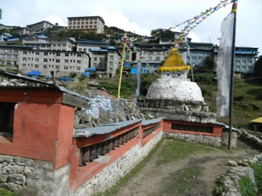 Part view of Namche