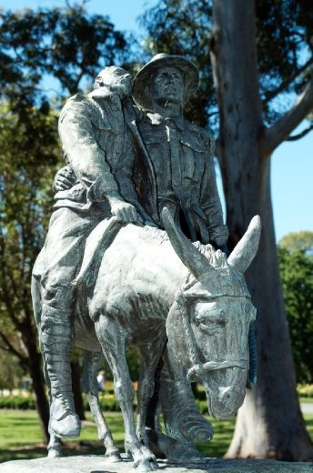 Simpson and his donkey are a key part to the ANZAC legend. Under fire John 'Jack' Simpson Kirkpatrick would carry the wounded from the front lines to the beach for evacuation.