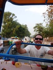 Jase helping the old rickshaw driver.. whilst I took photos!: by pommie51, Views[191]