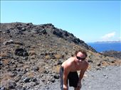 Puffed out after the walk up the volcanic Island: by pommie51, Views[167]