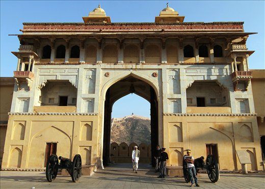 The entrance/main gate of AMBER FORT in Jaipur,Rajasthan,INDIA.