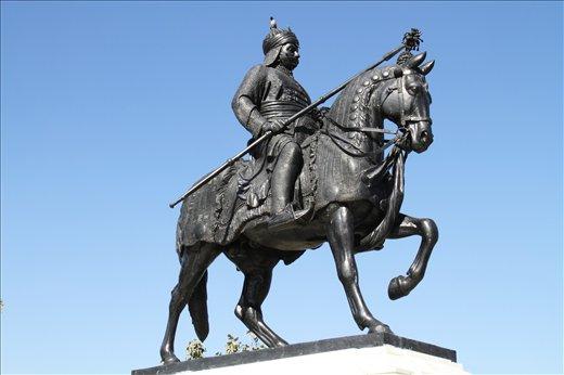 The statue of Maha Rana Pratap in Udaipur,Rajasthan,INDIA.