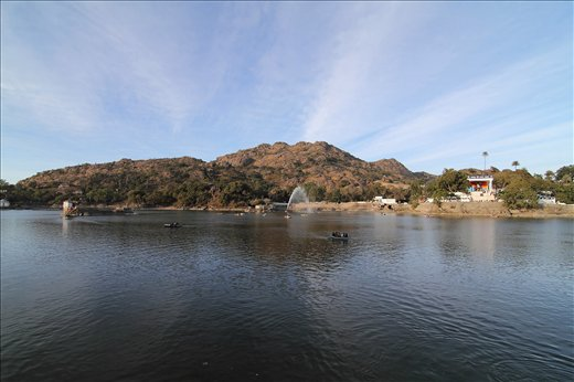 A lake in the hillstation of Mount Abu in Rajasthan.