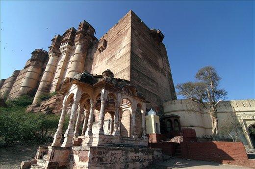 A view of MEHERANGARH FORT in Jodhpur,Rajasthan,INDIA.