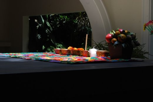 Went to a Lama ceremony and was impressed with all the colors so I want to show this using the sun light upon the table. Taken with a Nikon DX40 nearby Mexico City.