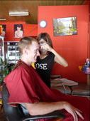Travis getting his hair cut: by proneymooners, Views[242]