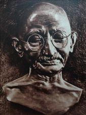 Mahatma Gandhi - bronze relief: by pshah13, Views[257]
