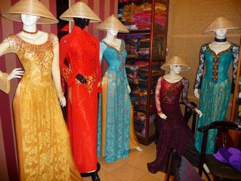 Stunning tailored Vietnamese gowns