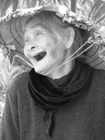 81 year old granny - beautiful, fun and friendly (B&W)