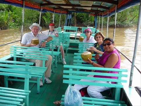 Coconuts on a boat trip