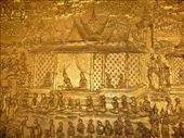 A beautiful small segment of a massive gold painted temple wall mural : by pshah13, Views[183]