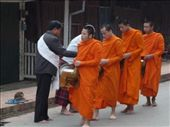 Alms giving (Tak Bat) for Monks: by pshah13, Views[236]