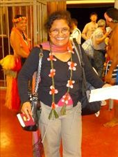 Prabha greeted at Yap airport (by a topless lady) with fresh flower garlands : by pshah13, Views[798]