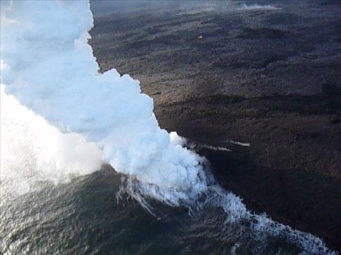 Lava flow into the sea, Big Island