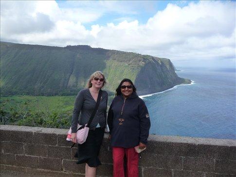 Christina & myself at Waimea Valley, Big Island