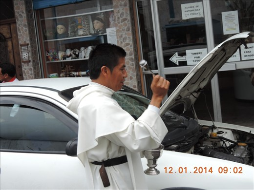 Here religion is very important , even cars are object of benediction , you can see plenty people who want deliberatly and inconditionnaly benediction their cars !