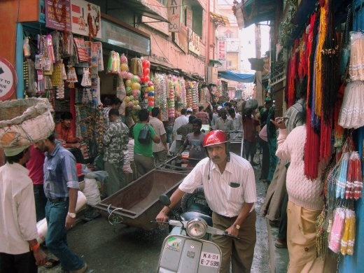 Streets are the veins that carry life blood into these markets. Already narrow, they have been made more impassable by the monsoons. People and goods (mostly as head load and hand carts) find their way through all this and keep the market alive.