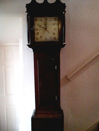 The offending grandfather clock! Chimed on the hour all night long.