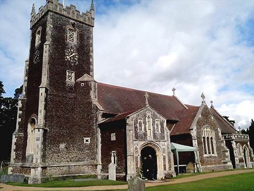 The church in the grounds at Sandringham.  This is the church the Queen walks to on Christmas day.