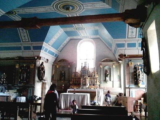 Inside church opposite creperie