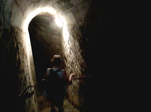 Walking down into the bowels of the Rohan Castle/chateau