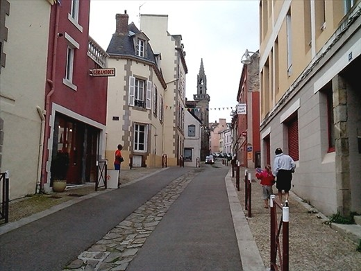 Cobbled streets and an array of different building styles.