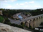 Photo taken from Dinan wall overlooking high bridge and lower Port area: by quando, Views[227]