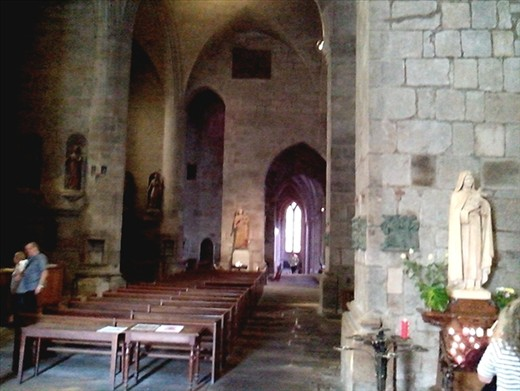 Inside the cathedral old town St Malo