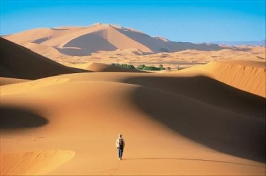 in desert of morocc