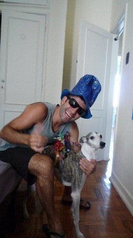 Ika, el perro de Christophe con disfraz!