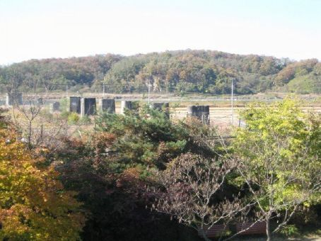 This is called the bridge of freedom where North Korean people came to Southb Korea
