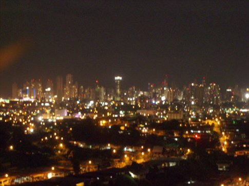 Downtown, by night