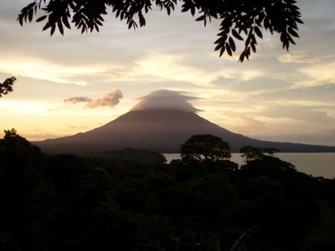 Inversion layer below the peak of Concepción, Ometepe