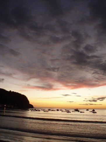 A rather gorgeous sunset over San Juan del Sur