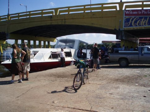 The ferry to Placencia awaits...a long time... in Puerto Cortes