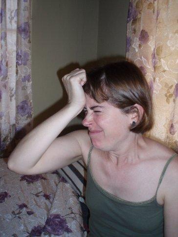 Rachel doing her neck exercises, bad girl hasn´t done them since....