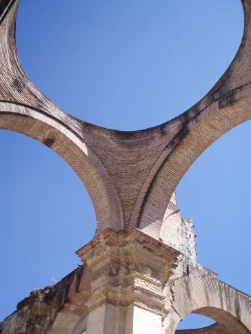 Old Cathedral arches, Antigua.