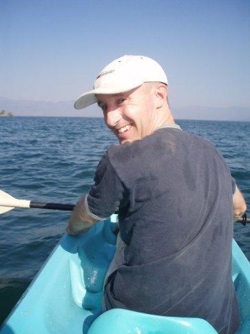 Daniel leading the way - kayaking on his birthday.