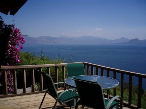 The incredible view from Lomas de Tzununá hotel, Lago Atitlan