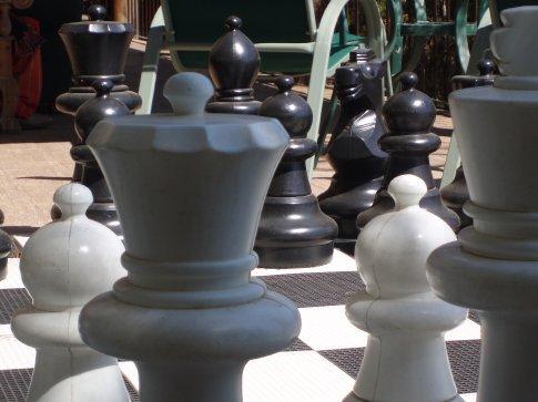Chess set, Lomas de Tzununá, Lago Atitlan.