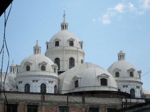Cupolas of the new cathedral, Xela