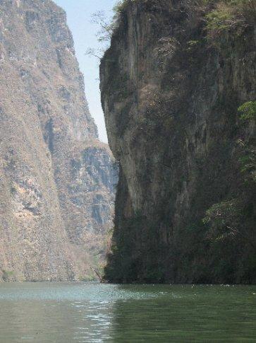The canyon narrows...