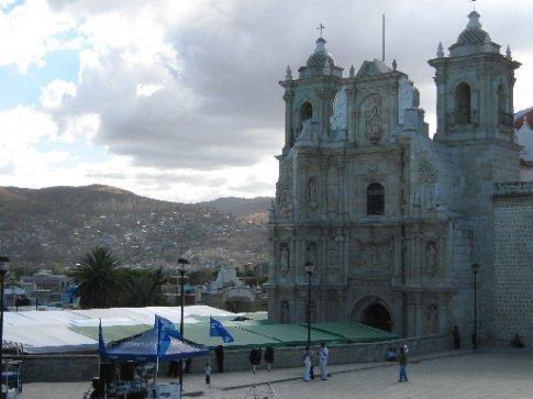 The beautiful La Soledad church, Oaxaxa