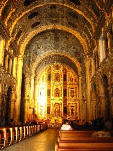 Yes, that's all gold leaf... - Santa Domingo, Oaxaca